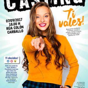 CCA Carballo convoca un casting de modelos para o día 7 de setembro.